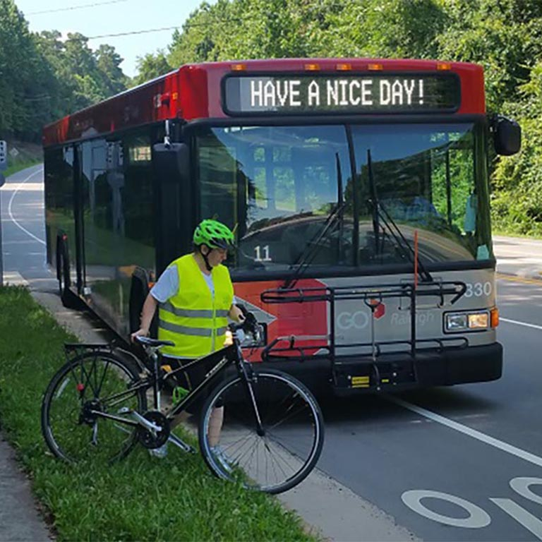 Getting around by Bus and Bike in Raleigh
