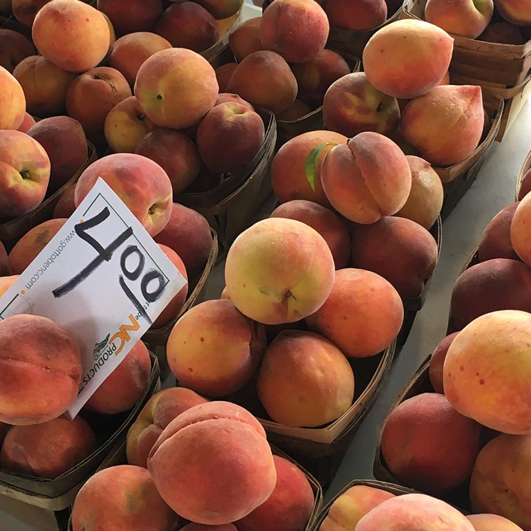 Peaches at the NC Farmers Market