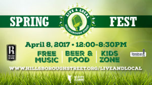 Live & Local: Spring Fest 2017 @ Hillsborough Street and Compiegne Park | Raleigh | North Carolina | United States