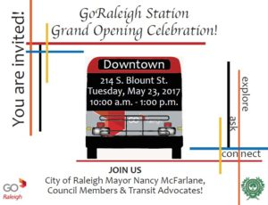 GoRaleigh Station Grad Opening Celebration @ GoRaleigh Station | Raleigh | North Carolina | United States