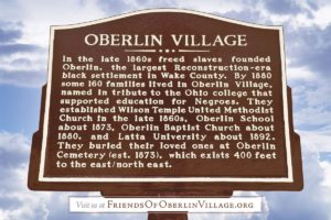 Oberlin Village Historic Road Marker Unveiling @ Historic Turner House | Raleigh | North Carolina | United States