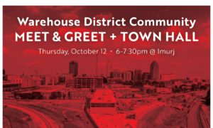 Warehouse District Community Meet & Greet + Town Hall @ Imurji | Raleigh | North Carolina | United States