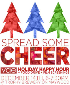 Holiday Happy Hour, Food Drive and Film Screenings @ Trophy on Maywood | Raleigh | North Carolina | United States