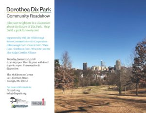 Dorothea Dix Park Community Roadshow @ McKimmon Center | Raleigh | North Carolina | United States