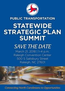 NC Department of Transportation's Public Transportation Statewide Strategic Plan Summit @ Raleigh Convention Center | Raleigh | North Carolina | United States