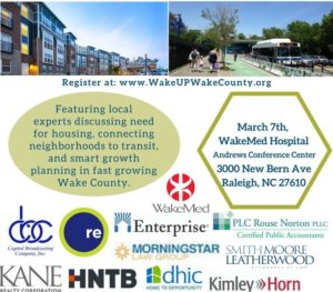 Our Future: Growing Smart with Housing and Transit @ Andrews Conference Center, WakeMed Raleigh Campus | Raleigh | North Carolina | United States