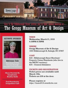 Hillsborough Street Annual Meeting and Awards @ Gregg Museum of Art & Design | Raleigh | North Carolina | United States